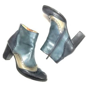 Pikolinos Blue Leather Ankle Boots